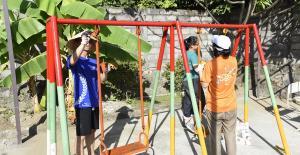 Bali Coral reef rebuilding- Upgrading kindergarten playground