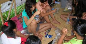 Bali Coral reef rebuilding-Ecobricks